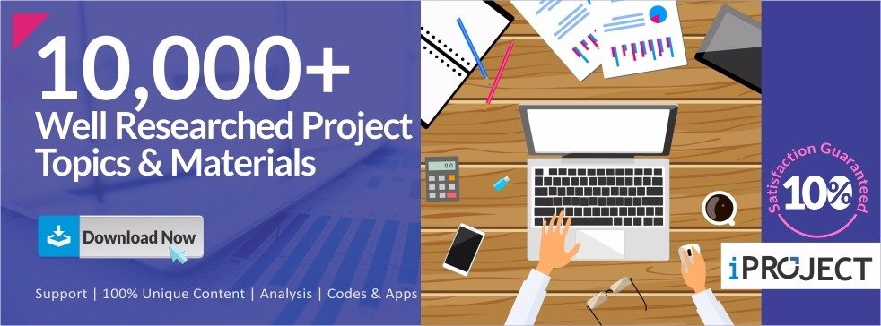 Final Year Research Project Topics & Materials| PDF & Doc | iproject.com.ng Banner