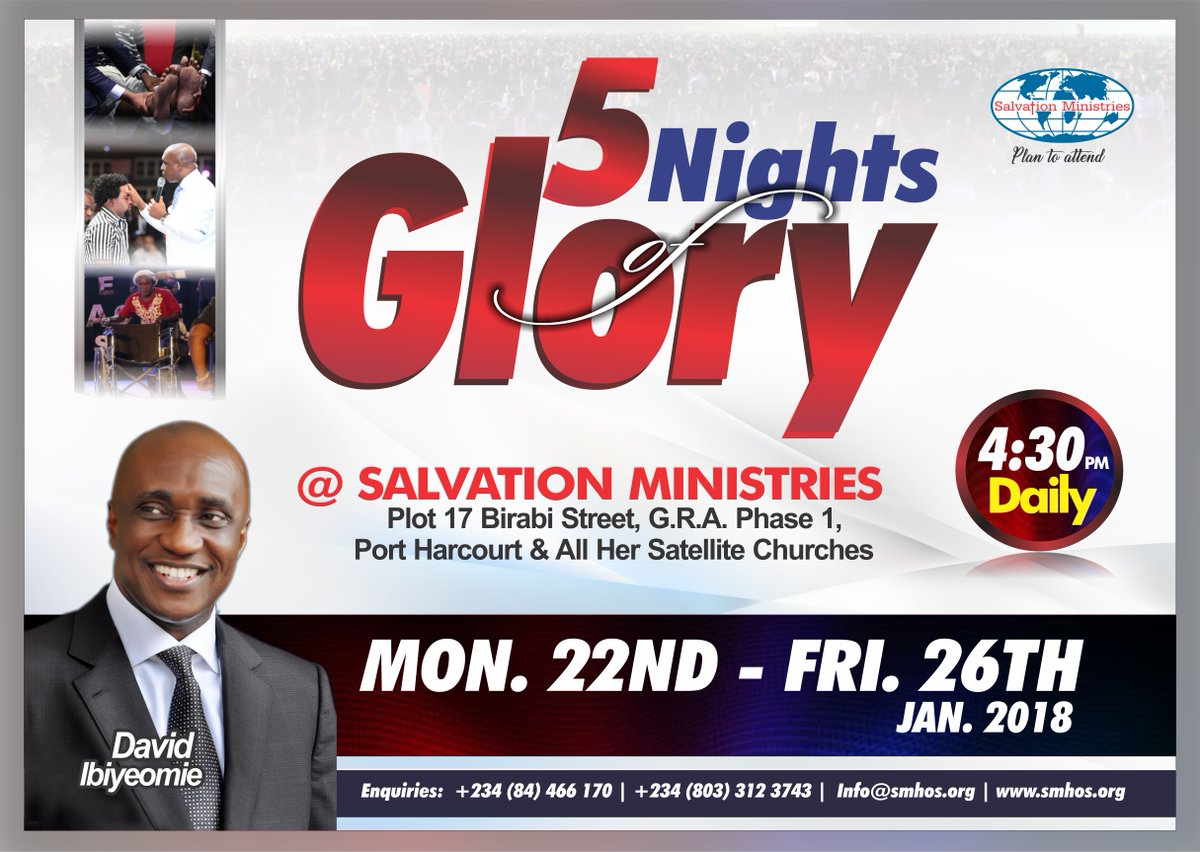 5 Nights of Glory, Salvation Ministries